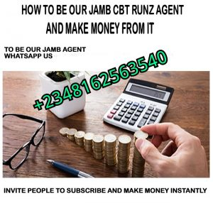 BE OUR JAMB CBT AGENT AND MAKE MONEY FROM IT